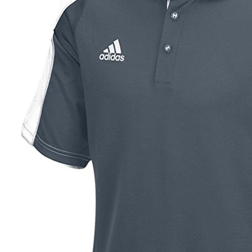 Adidas Mens Climalite Modern Varsity Polo Onix / Vit