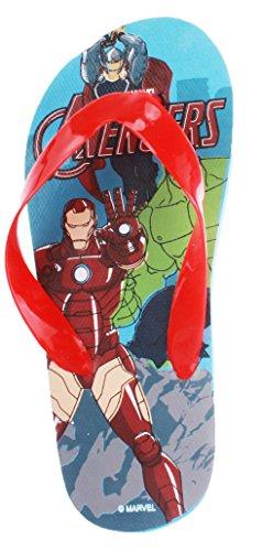 Tongs enfant garçon Les Avengers Rouge/marine de 27 à 32