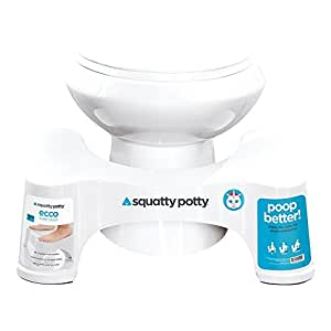 "Squatty Potty The Original Bathroom Toilet Stool 7""- White"
