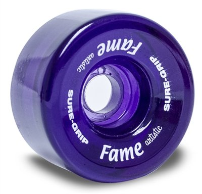 Sure-Grip Fame Artistic Indoor Wheels (Clear Purple) by Sure-Grip