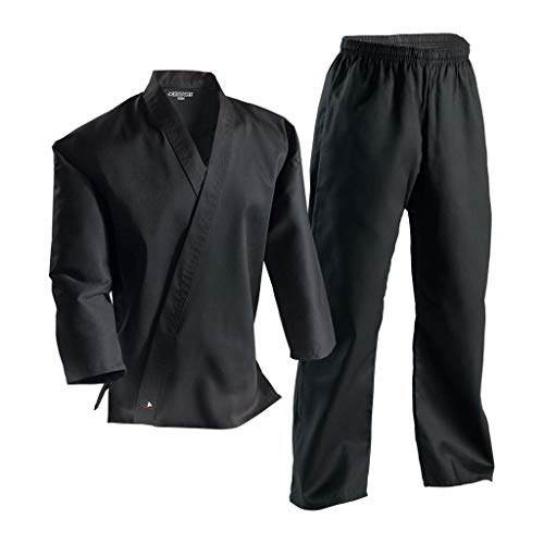 Century Martial Arts Middleweight Student Uniform with Elastic Pant - Black, 1 - Child 8-10