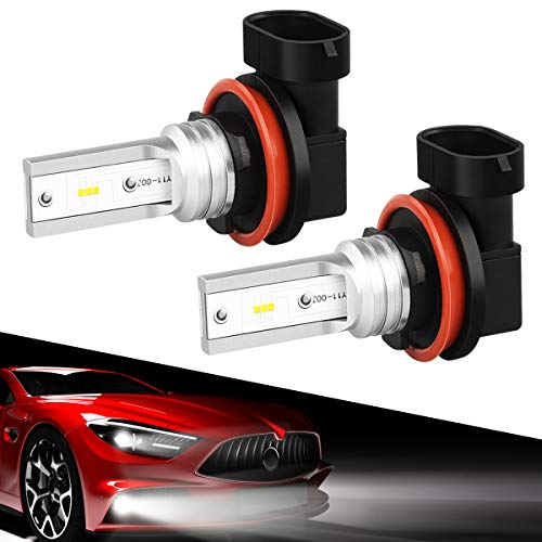 H11 Led Fog Lights, SEALIGHT H8 H16 Led Fog Bulbs Lamps High Power 6CSP Led Chips,6000K White (Pack Of 2)