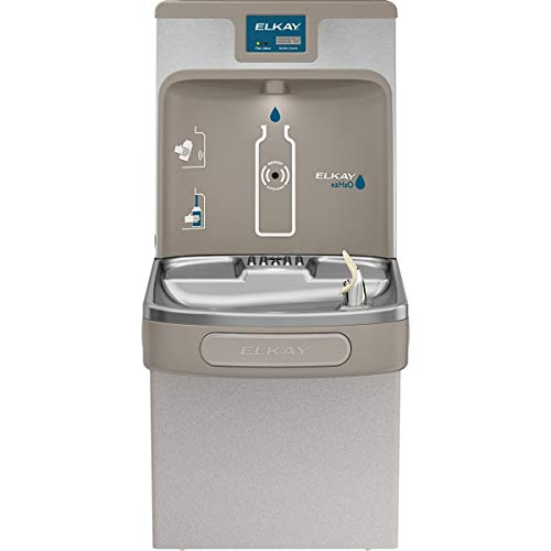 (Elkay LZS8WSLP Enhanced EZH2O Bottle Filling Station & Single ADA Cooler, Filtered 8 GPH Light Gray)