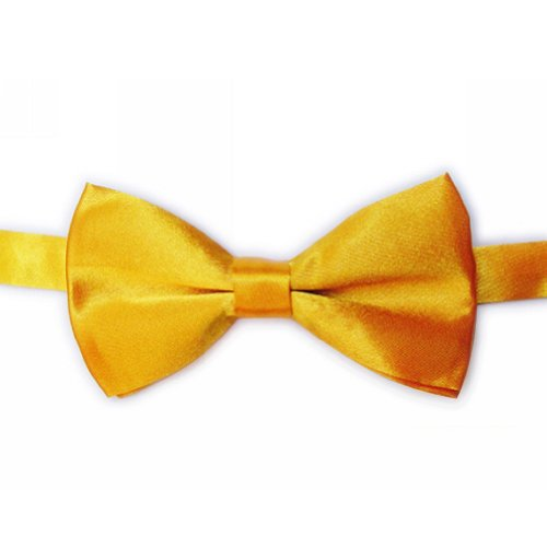 TopTie Mens Formal Tuxedo Solid Color Satin Bow Tie Classic Pre-Tied Bow Tie