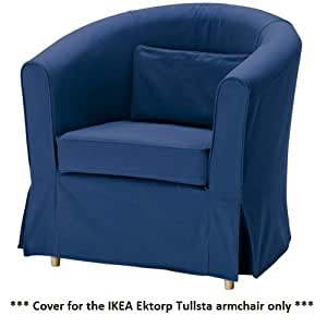ikea ektorp tullsta armchair cover idemo blue home kitchen. Black Bedroom Furniture Sets. Home Design Ideas