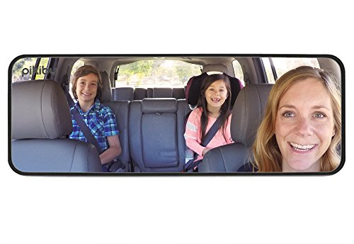 Pikibu 180-Degree View High Definition Clarity Baby Car Mirror, Black - Large Rear View Mirror