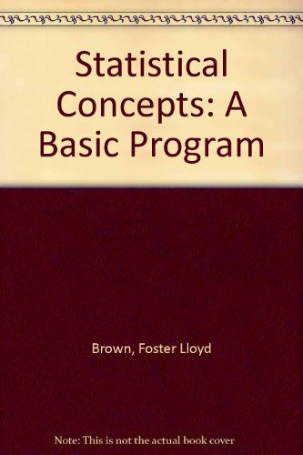 Statistical Concepts: A Basic Program