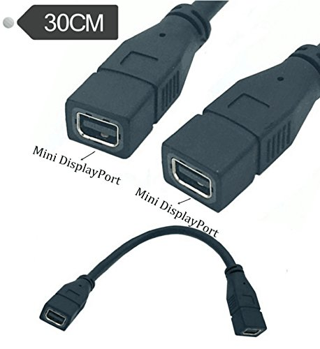 Exuun Mini DP to Mini DP Cable, 12inch/30cm Mini DisplayPort