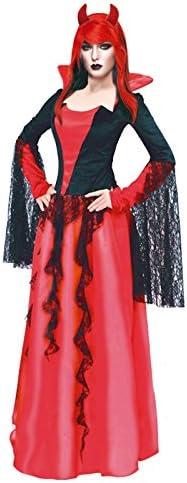 Partilandia Disfraz Diablesa Noble para Mujer (L): Amazon.es ...