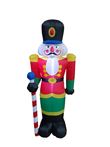 6 Foot Tall Lighted Christmas Inflatable Nutcracker Indoor Outdoor Yard Art Decoration