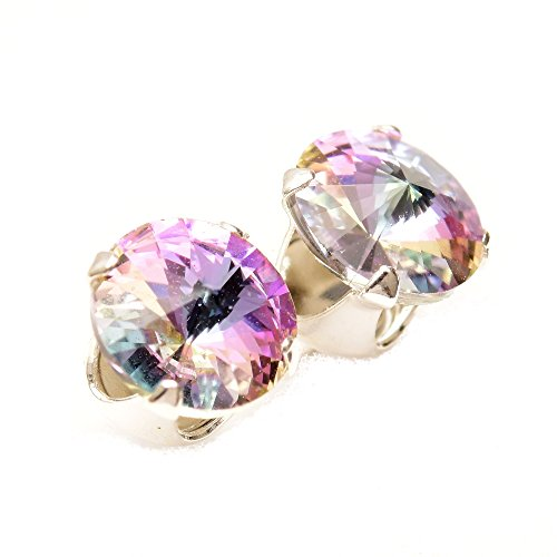 End of line clearance. 925 Sterling-silver Stud Earrings expertly made With Sparkling Starlight Crystal From SWAROVSKI for Women