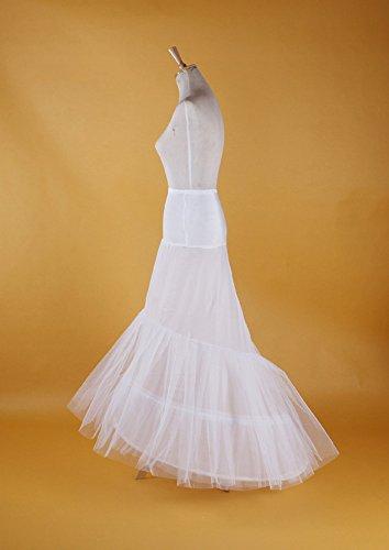 PJ Sottogonna sposa sottoveste da sposa abito da ballo petticoat Crinolina sottoveste bianca 2 cerchio coda di pesce