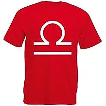 Brand88 Libra, Mens Printed T-Shirt