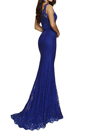 Abendkleid Ivydressing Lang Partykleid Promkleid Damen Ein Schlitz Royalblau Spitze Schulter USnrF8gqSx