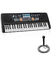 $44 » Pyle, Electric 49 Keys-Portable Digital Musical Karaoke Piano Keyboard-8 Rhythms 16 Tones, Stereo Speakers, Rechargeable Battery-Wired Microphone-Beginners Kids Adult PKBRD4113 Black