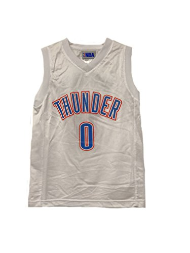 Outerstuff NBA Boys Youth 8-20 Player Name & Number Mesh Player Jersey (Youth Small 8, Oklahoma City Thunder Russell Westbrook White)