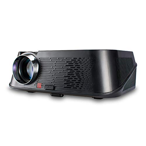 L&M Projector DLP HD1080P 3500 Lumens 3D WiFi for Home Theater Office Teaching Party Games Compatible Mobile Phone PC USB Flash Drive DVD Mp4/5 Camera,A