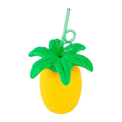 SunnyLife Women's Pineapple Sipper Cup, Yellow, One Size