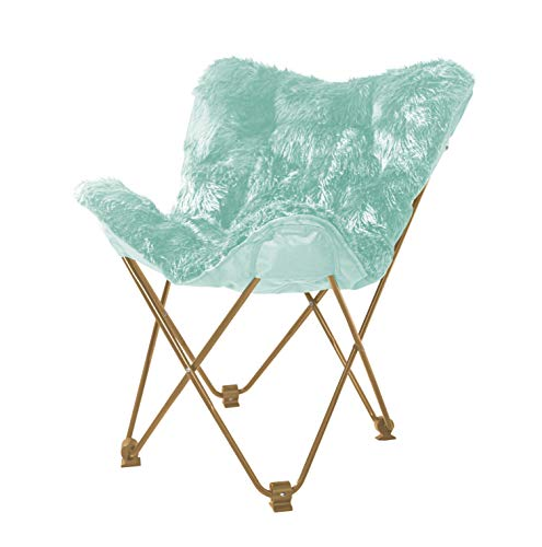 (Urban Shop WK657563 Mongolian Butterfly Chair, Aqua)