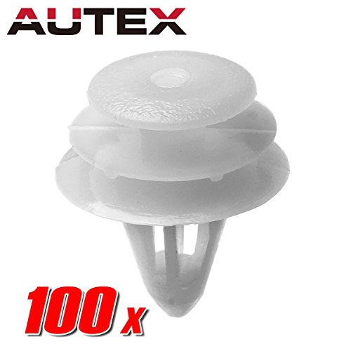 AUTEX 100pcs Door Trim Panel Fastener Rivet Push Clips Retainer Nut Replacement for Nissan 350Z Altima Hybrid Frontier Maxima Pathfinder Quest Sentra Titan Xterra