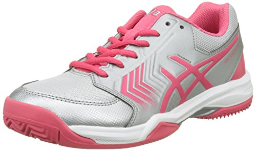 E758Y Red Shoes White Tennis GEL CLAY DEDICATE 5 Women's ASICS Rouge Silver q0v1w