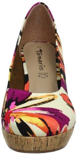 Tamaris Tamaris 1-1-22460-20 - Plataformas de lona para mujer Multicolor (Mehrfarbig (ORANGE COMB 613))