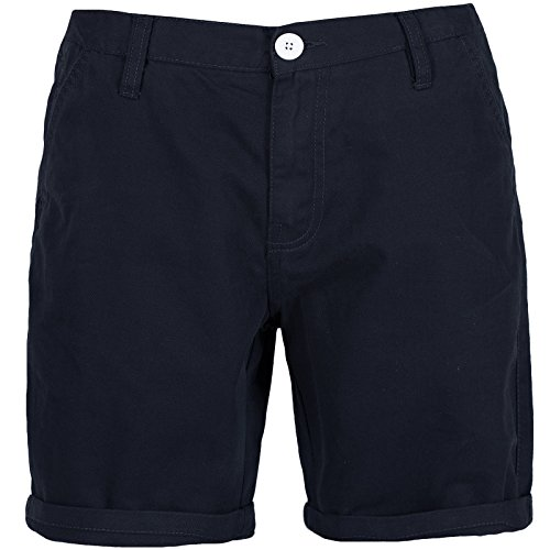 - Brave Soul Mens Cotton Twill Turn Up Chino Shorts (Smith - Navy, Blue)