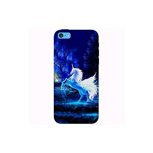 Coque Apple Iphone 5c - Licorne forêt enchantée
