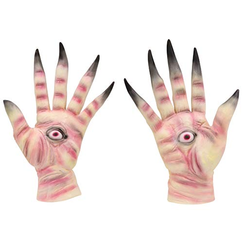 KINHOO Creepy Latex Gloves Cosplay Costume Props for Adults Halloween Party Supplies -