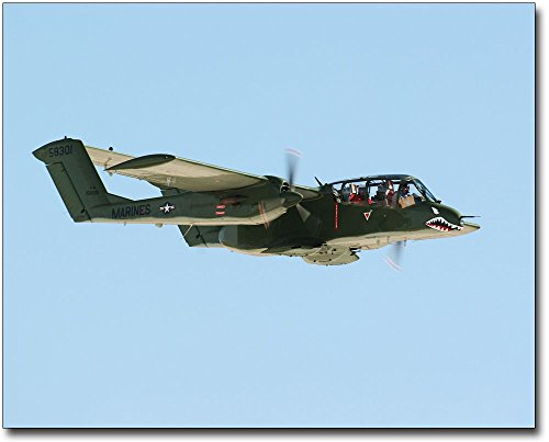 OV-10 Bronco Aircraft In Flight 8x10 Silver Halide Photo Print by The McMahan Photo Art Gallery & Archive