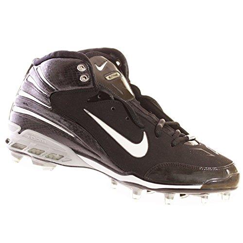 Nike Air Zoom Assassin Td Chaussures De Football Pour Hommes Noir Blanc Argent 12,5 M