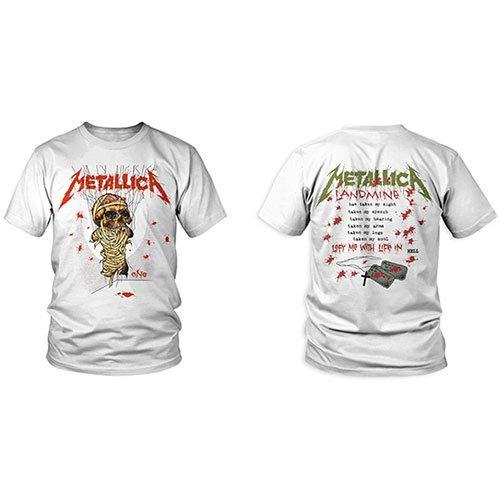 Metallica One Landmine Men T-Shirt White, Regular