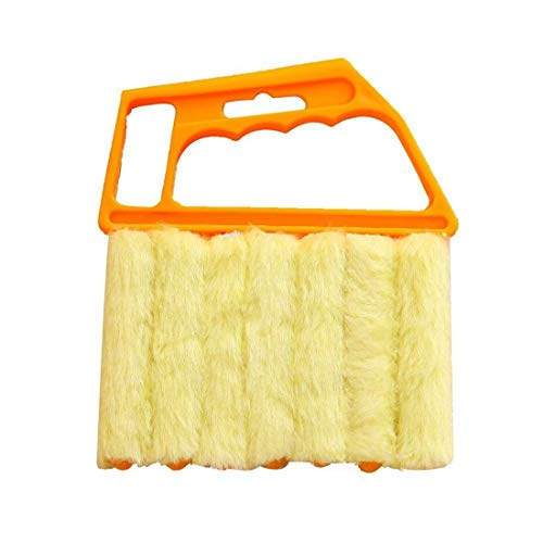 7 Brush Venetian Blind Cleaner, Window Cleaner Brush, Removable Washable Dust Collector Microfiber,Cleaning Cloth Tools for Window Shutters Air Conditioner