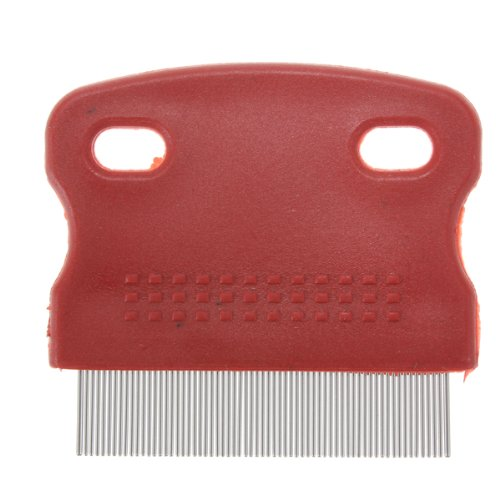 SODIAL(R) Flea Fine Toothed Clean Comb Pet Cat Dog Hair Brush Soft Protection Steel Small (Comb Mm Fine)