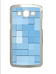 Blue squares Custom Samsung Grand 7106/2 Case Cover Polycarbonate Transparent by runtopwell