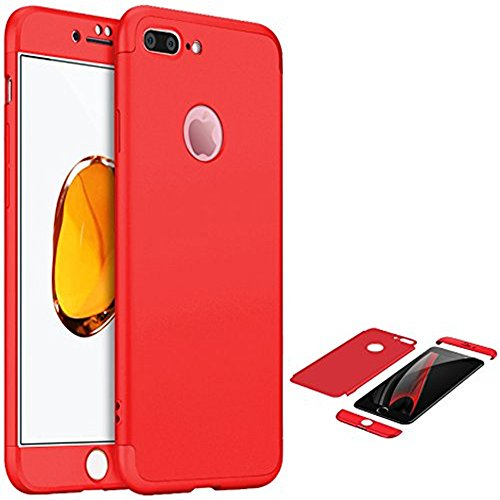 Price comparison product image iPhone 6 / 6s 4.7 Full Body Case with Tempered Glass Screen Protector-Auroralove New Arrival 3 in 1 Slim Hard Plastic Front Back 360 Full Protection Case for iPhone 6 / 6s 4.7-Red