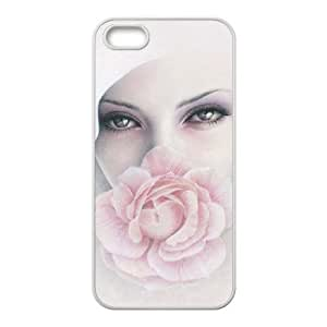 BLACCA Phone Case Of cute girl, flower girl for Iphone 5 5g 5s