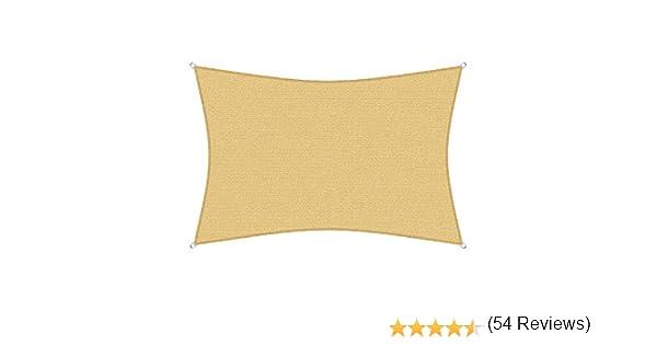 sunprotect 83230 Professional Toldo / Vela de Sombra, 6 x 4 m, rectangular, beige: Amazon.es: Jardín