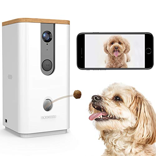 DOGNESS Dog Camera Treat Dispenser,HD Video WiFi Pet Camera with 2-Way Audio and Night Vision,Monitor Your Dogs and Cats (Pet Video Chat)