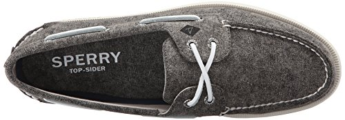 Sperry Top-sider Mens En / O 2-eye Vit Mössa Duk Båt Sko Grå
