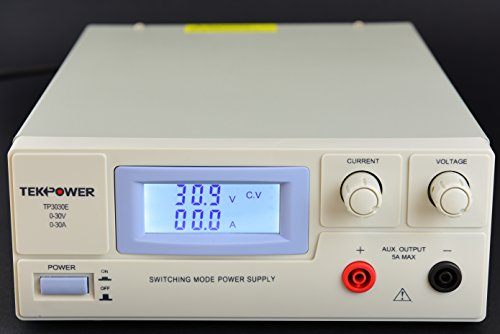 TekPower TP3030E DC Adjustable Switching Power Supply 30V 30A, Digital Display With Back Light