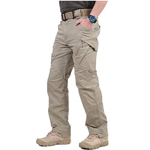 ReFire Gear Men's Military Assault Tactical Pants Lightweight Cotton Outdoor Combat Cargo Trousers Khaki