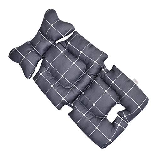 CUTICATE Baby Stroller Cool Seat Mat Breathable 3D Mesh Cushion Liner for Stroller Car High Chair Pushchair – Black Plaid, 72x35x4cm