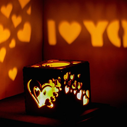 Halloween Gift for Her Christmas Gift New Year Gift Birthday Best Gift for Him Wooden Candle Holder Votive Tea Light Holder Wedding Decoration Gift for Halloween Anniversary Gift (Halloween Birthday Gifts For Her)