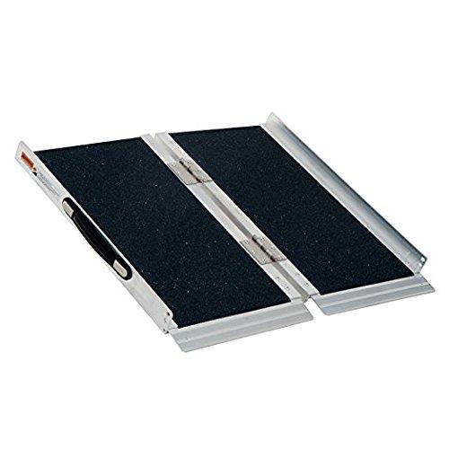 HOMCOM 2' Lightweight Aluminum Portable Skidproof PVC Carpeted Folding Wheelchair Ramp by HOMCOM (Image #1)