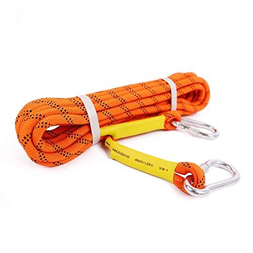 ロッククライミングロープ、安全ロック付き10.5mmスタティックツリークライミングロープ急上昇する救助ロープエスケープパラシュートロープスポーツ/装飾/ペット用玩具/工芸品 タープロープ テントロープ (Color : オレンジ, Size : 30M) オレンジ 30M