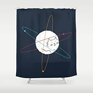 Society6 - Cat-ion Shower Curtain by Budi Satria Kwan