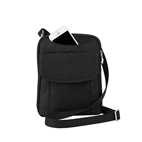 travelon-anti-theft-slim-pouch-with-stitching-black-one-size
