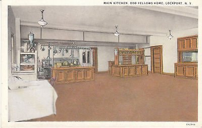 F5407 NY, Lockport Odd Fellows Home Kitchen Postcard