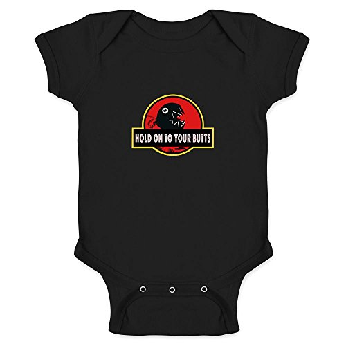 Hold On to Your Butts Funny Black 6M Infant Bodysuit